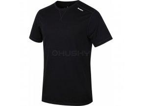 Husky Merino pánské termo tričko krátký rukáv černé