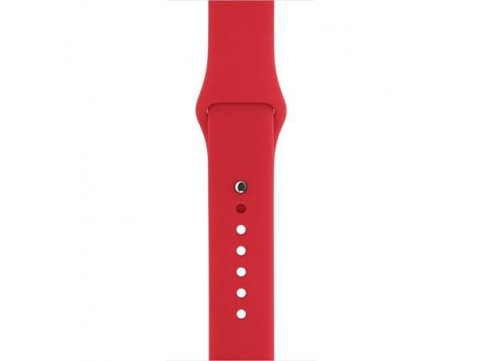 Silikonový Řemínek Pro Apple Watch 42/44mm - Červený