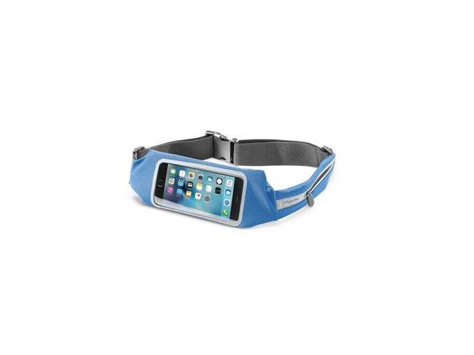 Sportovní pouzdro CellularLine WAISTBAND RUNNING s průhledem, univerzální velikost, modrá