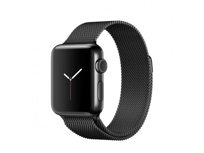 apple watch series 2 38mm space black stainless steel case with space black milanese loop 2