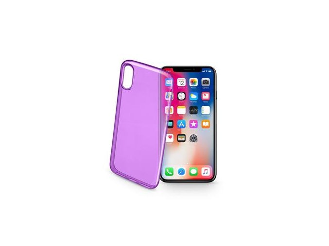 2+2 ZDARMA Barevné gelové pouzdro CELLULARLINE COLOR pro Apple iPhone X/XS
