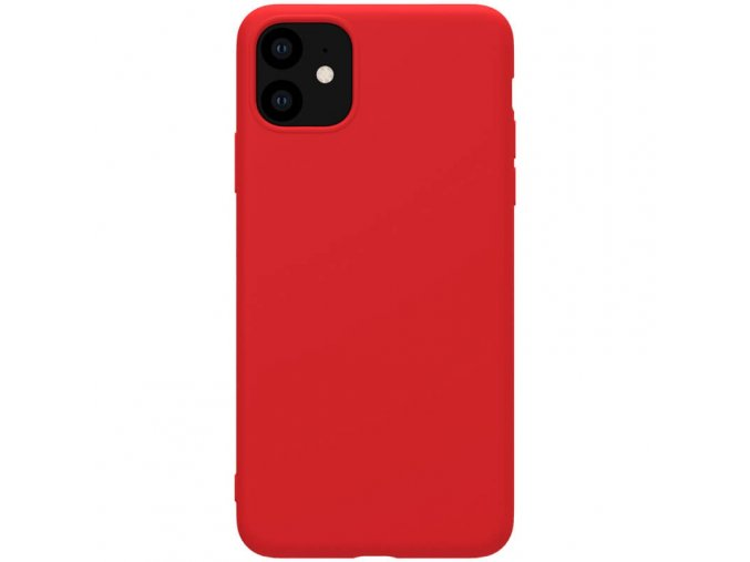 nillkin rubber wrapped protective case for apple iphone 11 red