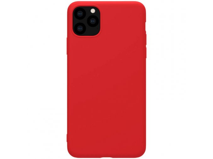 nillkin rubber wrapped protective case for apple iphone 11 pro red