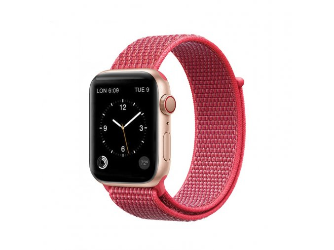 coteetci magic tape strap for apple watch 42 44mm hibiscus