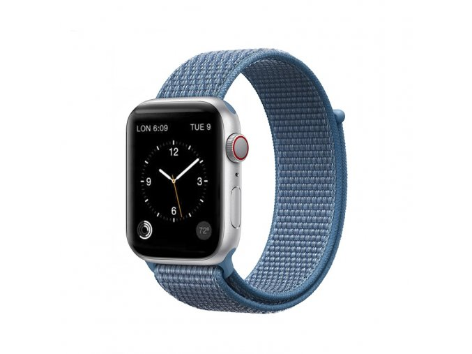 coteetci magic tape strap for apple watch 42 44mm cape cod blue