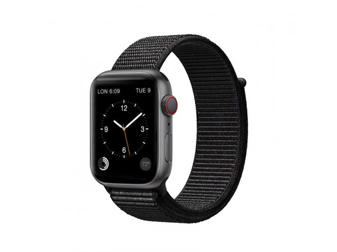 coteetci magic tape strap for apple watch 38 40mm black