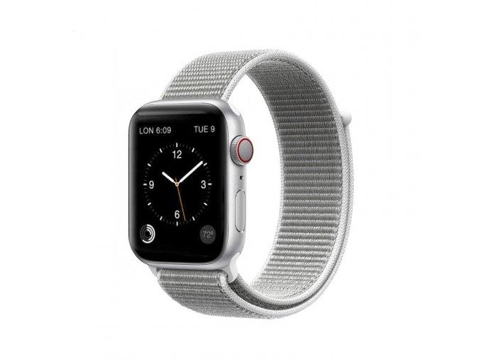 coteetci magic tape strap for apple watch 42 44mm seashell
