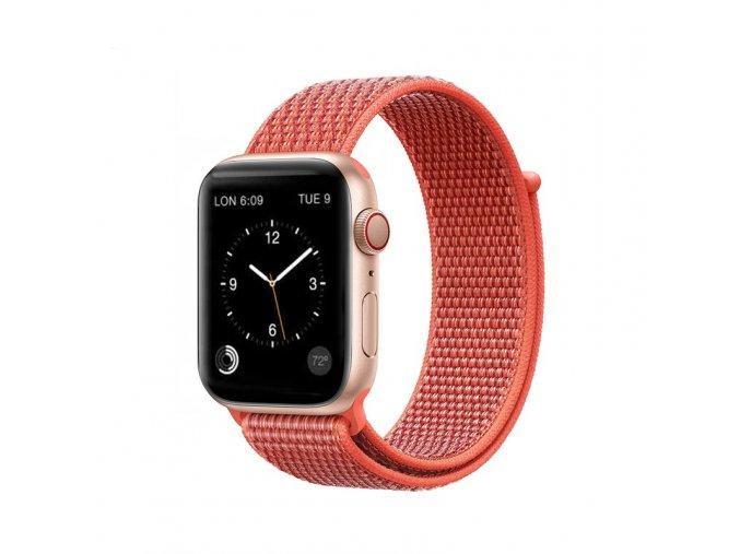coteetci magic tape strap for apple watch 38 40mm netarine