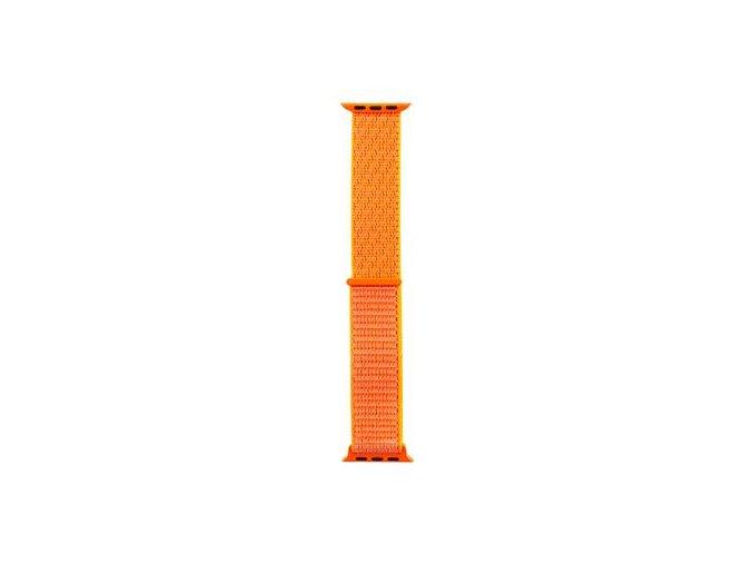 Tactical Látkový Řemínek pro Apple Watch 38/40mm - Oranžový