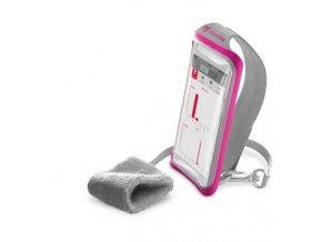 """Sportovní pouzdro CellularLine HANDBAND, pro smartphony do velikosti 5,2"""", růžová"""