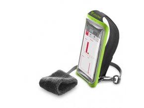 """Sportovní pouzdro CellularLine HANDBAND, pro smartphony do velikosti 5,2"""", zelený"""