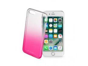Ultratenký průhledný zadní kryt CellularLine SHADOW pro Apple iPhone 7, TPU, růžový