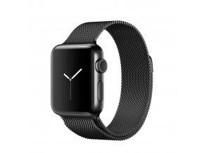 apple watch series 2 38mm space black stainless steel case with space black milanese loop 2