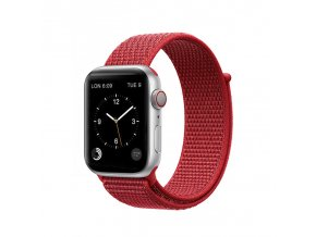 coteetci magic tape strap for apple watch 42 44mm red
