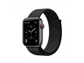 coteetci magic tape strap for apple watch 38 40mm black