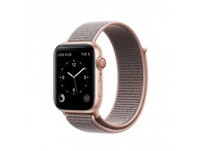 coteetci magic tape strap for apple watch 42 44mm pink sand