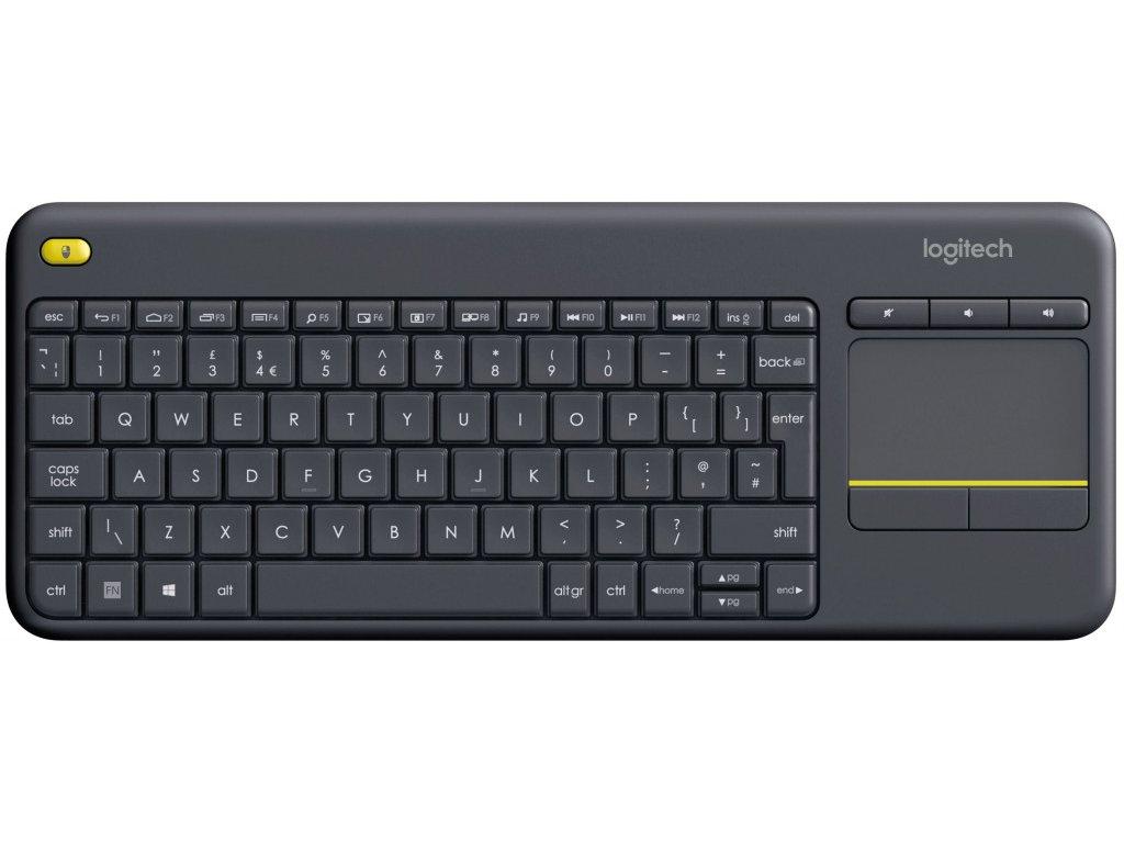 Logitech Wireless Touch Keyboard K400 Plus Black - UK