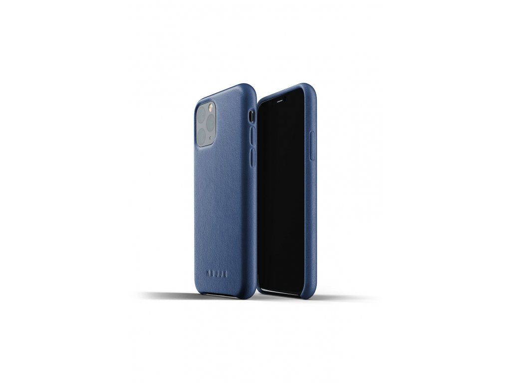 full leather case for iphone 11pro blue packshot 01