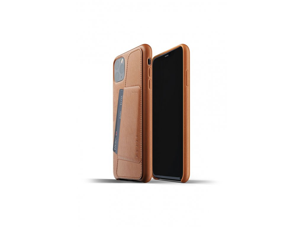 full leather wallet case for iphone 11 max tan packshot 01