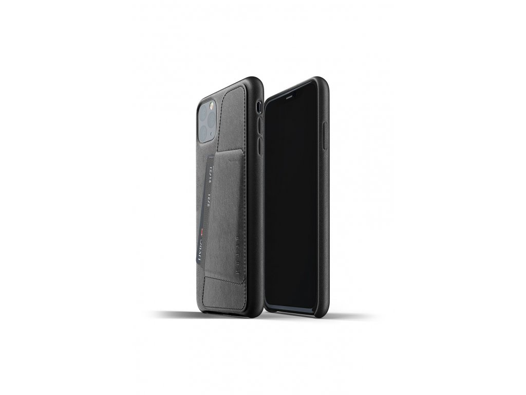 full leather wallet case for iphone 11 max black packshot 01