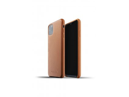 full leather case for iphone 11 max tan packshot 01