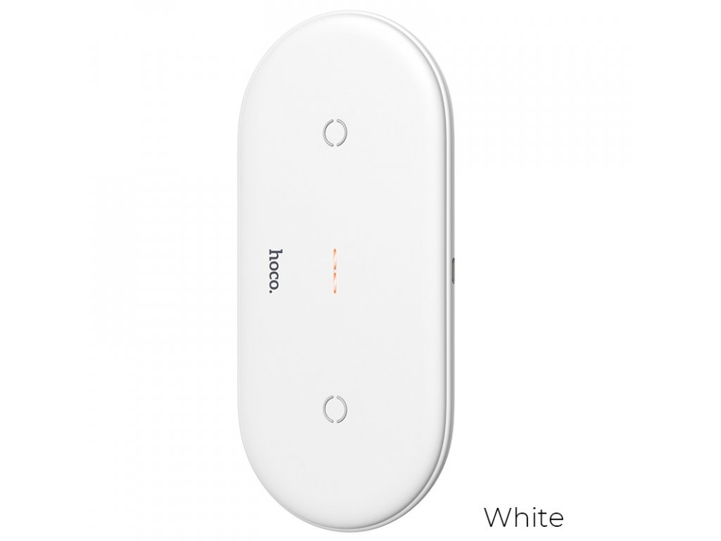 hoco cw23 dual power wireless fast charger white