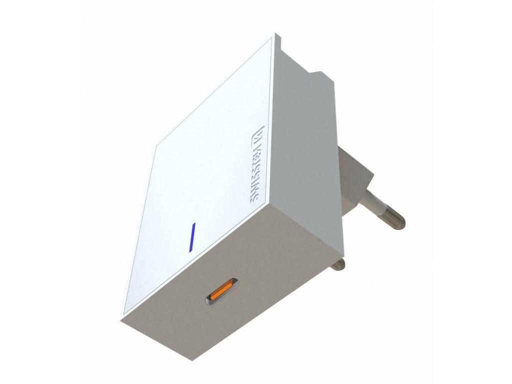 SWISSTEN nabíjecí adaptér do sítě s Power Delivery a výkonem 20 W pro iPhone 12