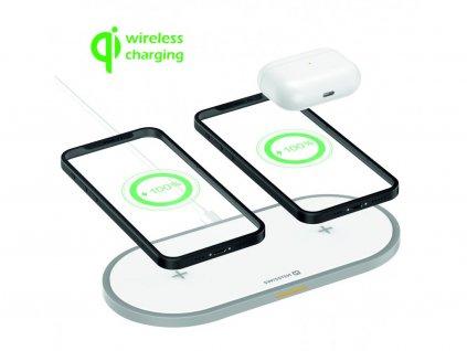 SWISSTEN Wireless 2in1 20 W bezdrátová nabíječka