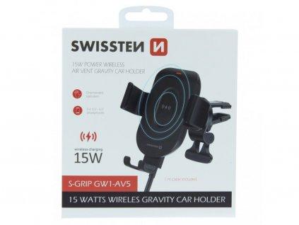 SWISSTEN GW1-AV5 gravity držák s bezdrátovým nabíjením do ventilace auta