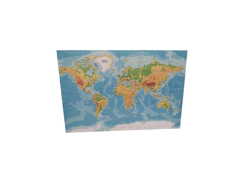 Mapa světa - plátno obraz na zeď