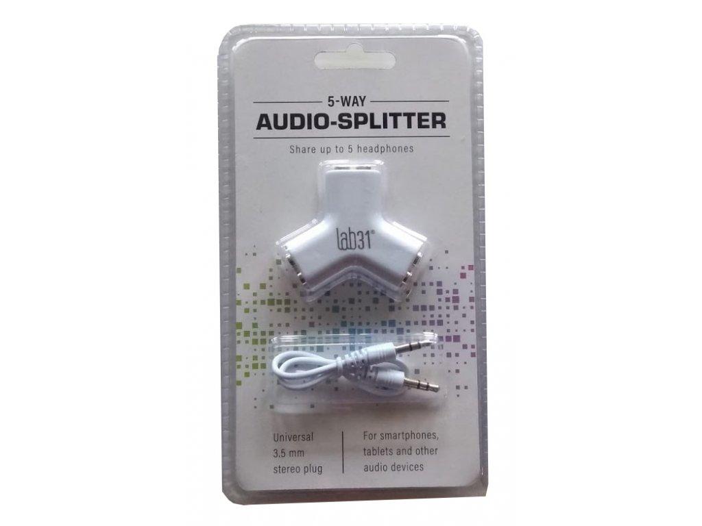 Audio 3,5mm jack rozdělovač - Lab31 - bílý