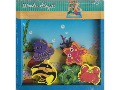 Dřevěná hrací sada Wooden playset