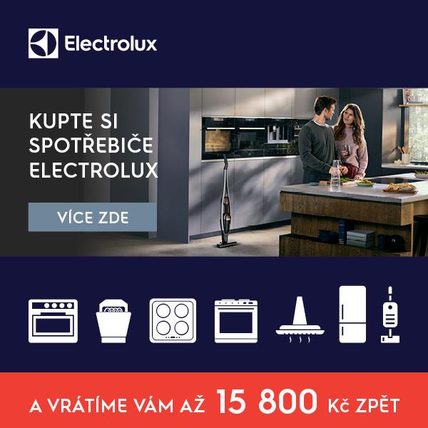 Vybavte svou domácnost spotřebiči Electrolux a získejte zpět až 15 800 Kč