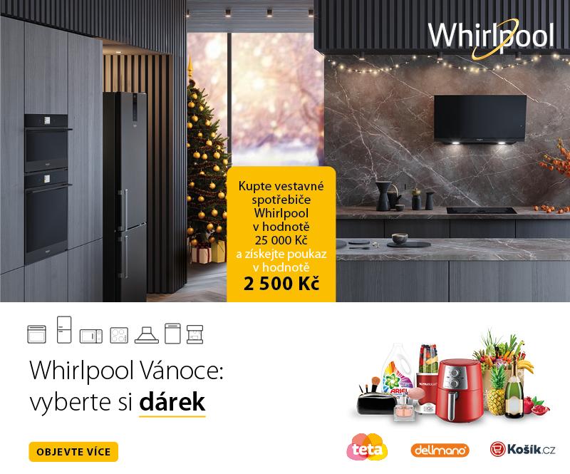 Kupte vestavné spotřebiče Whirlpool v hodnotě 25 000 Kč a získejte poukaz v hodnotě 2500 Kč