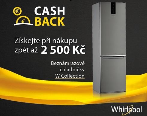AKCE CASHBACK WHIRLPOOL až do výše 2500 Kč na chladničky W-Collection