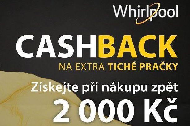 Akce: Cashback – 2 000 Kč na extra tiché pračky Whirlpool