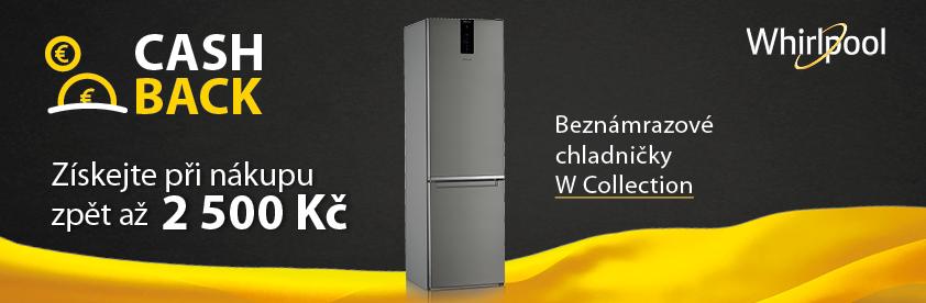 AKCE CASHBACK WHIRLPOOL na chladničky W-Collection