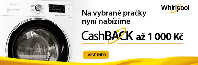 AKCE CASHBACK WHIRLPOOL na vybrané pračky FreshCare+