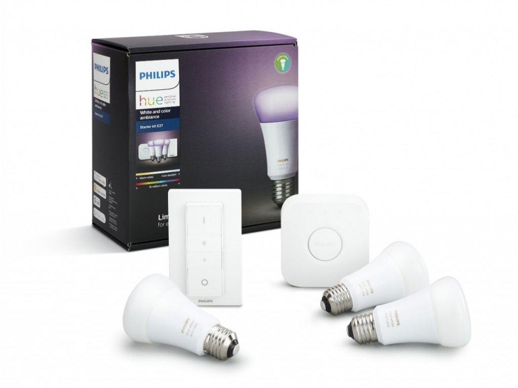 Philips Hue startovací sada 3x LED RGB žárovka E27