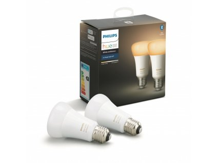 Hue Bluetooth LED White Ambiance žárovka E27 A19 8.5W 806lm 2200K 6500K set 2 ks