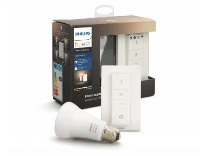Philips Hue Bluetooth LED White Ambiance základní sada LED žárovka 1xE27 A19 8.5W 806lm 2200K-6500K + switch