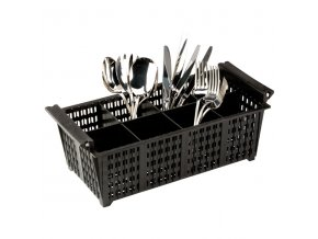 GR 8B BLK cutlery basket 8 segments 600x600