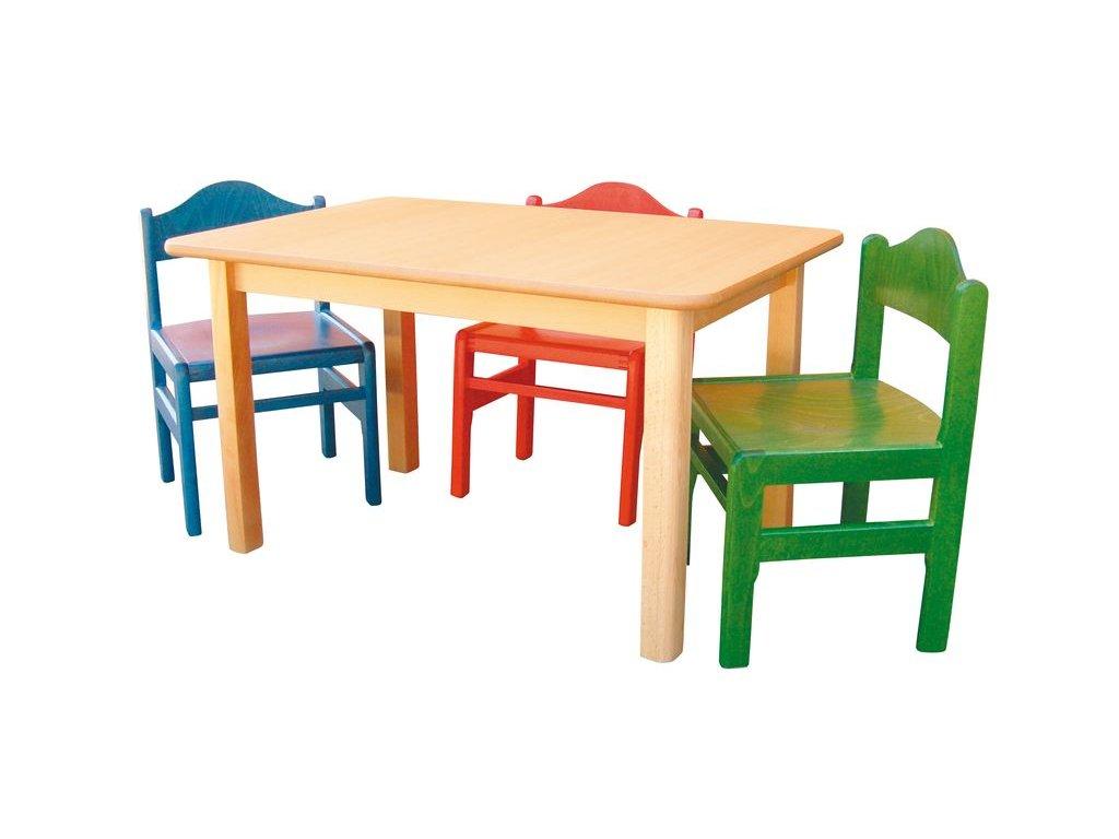 Dětský stůl AQ-D608 zaoblené hrany