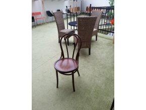 Jídelní židle thonet thonetka č. 018 s hladkým sedákem