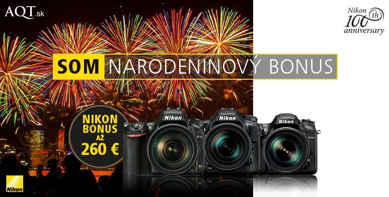 Nikon narodeninový cashback