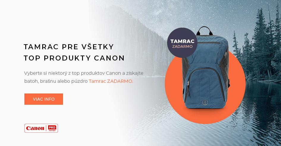 Darček Tamrac pri nákupe vybraných produktov Canon