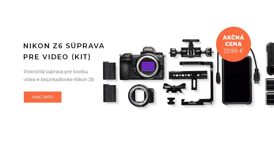 Nikon Z6 pokročilá súprava pre video