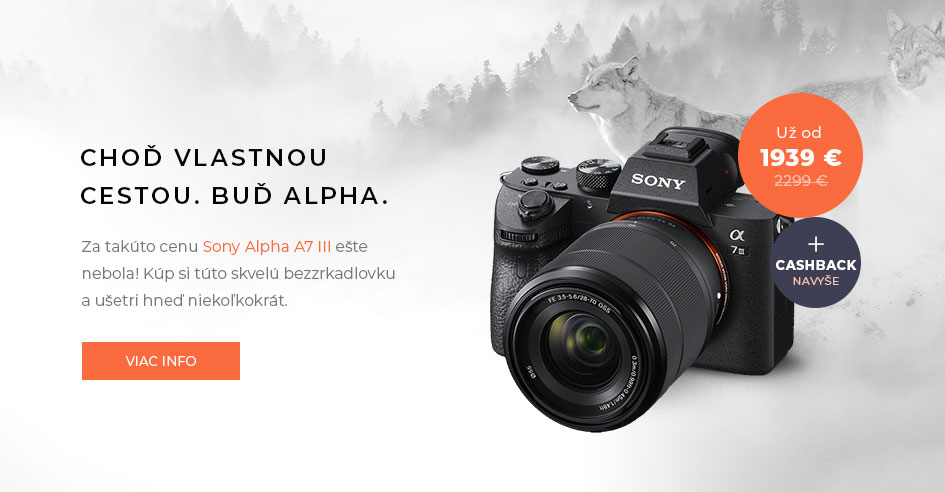 Akcia: Sony Alpha Mark III