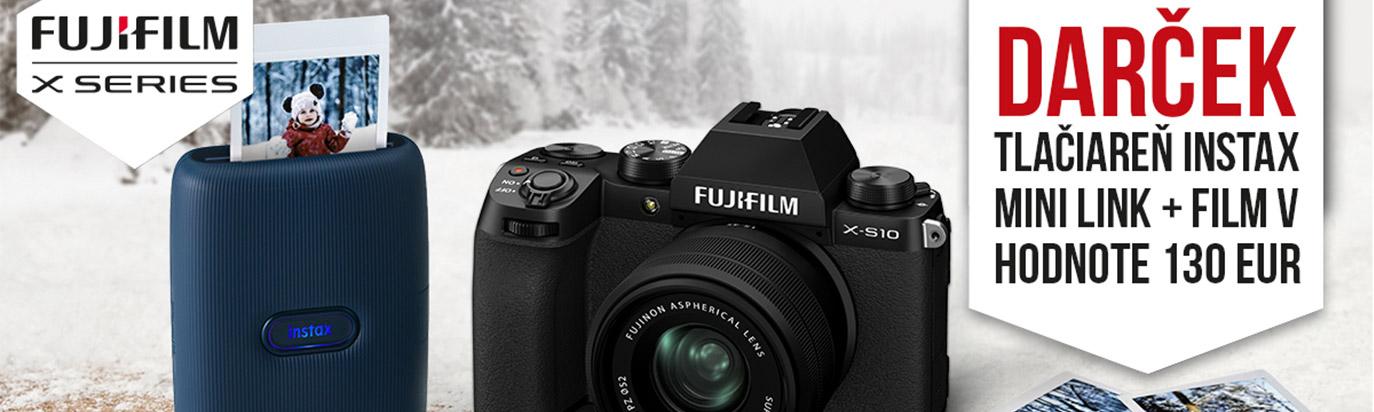 Fujifilm X-S10 + tllačiareň Instax mini Link zadarmo