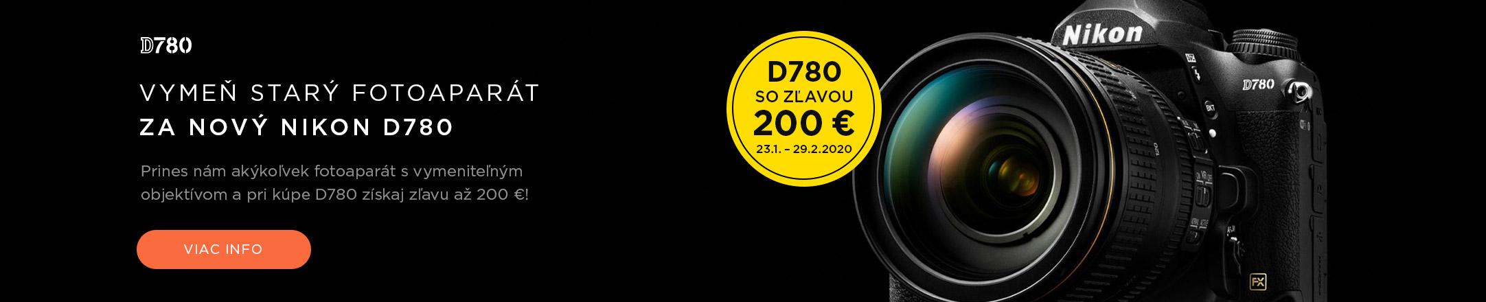 Nikon D780 - Vymeň starý za nový